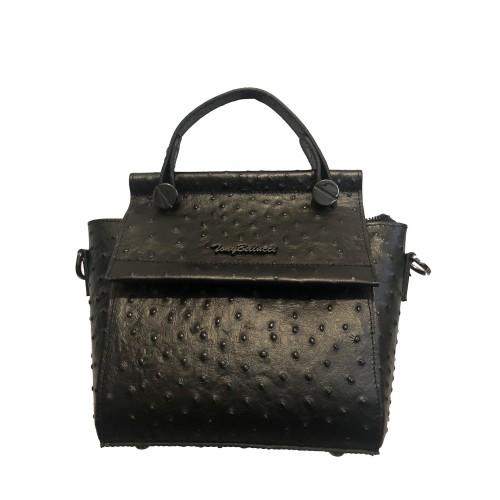 Γυναικεία Δερματινη Τσάντα 00-3 Μαυρη