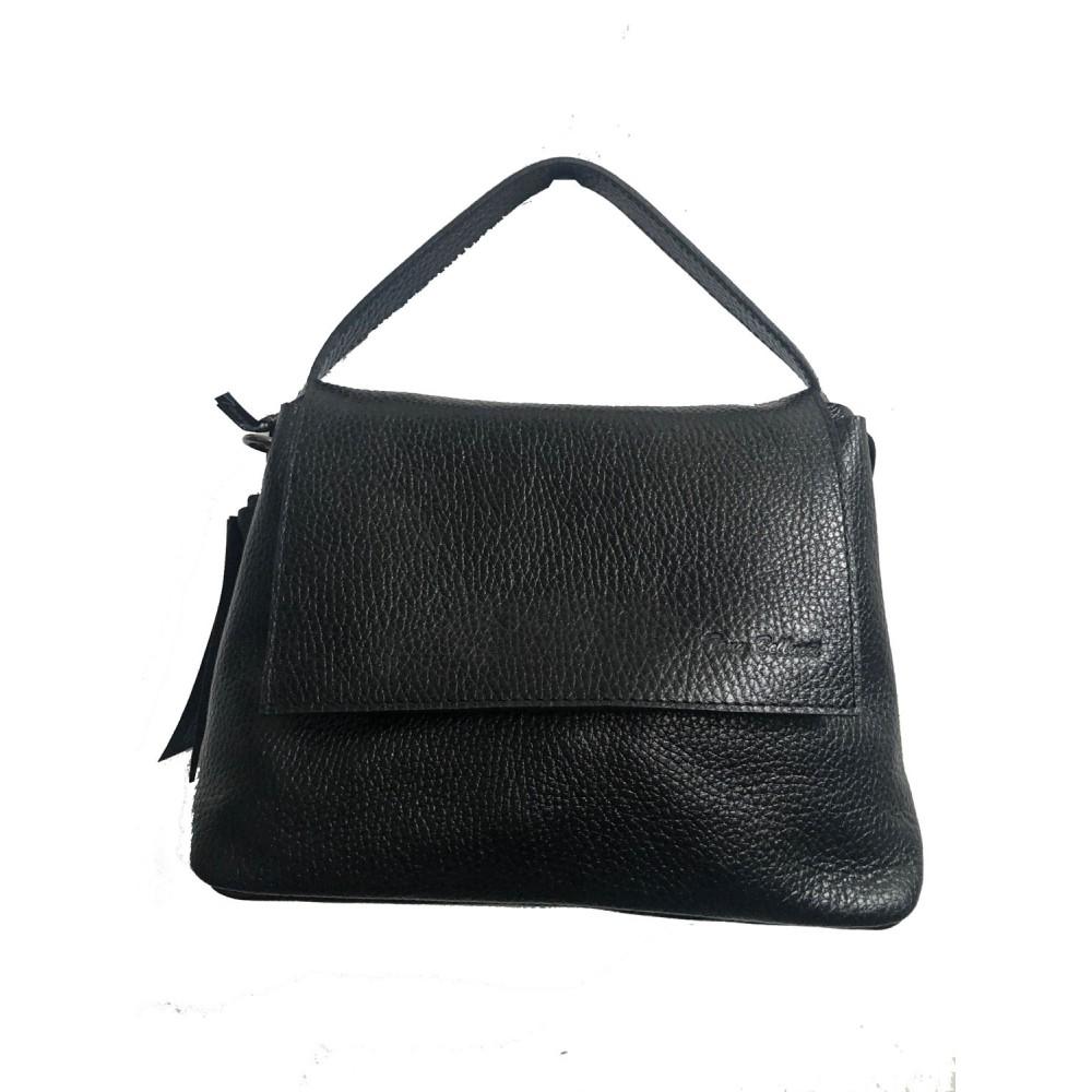 Γυναικεία Δερματινη Τσάντα 00-59 Μαυρη