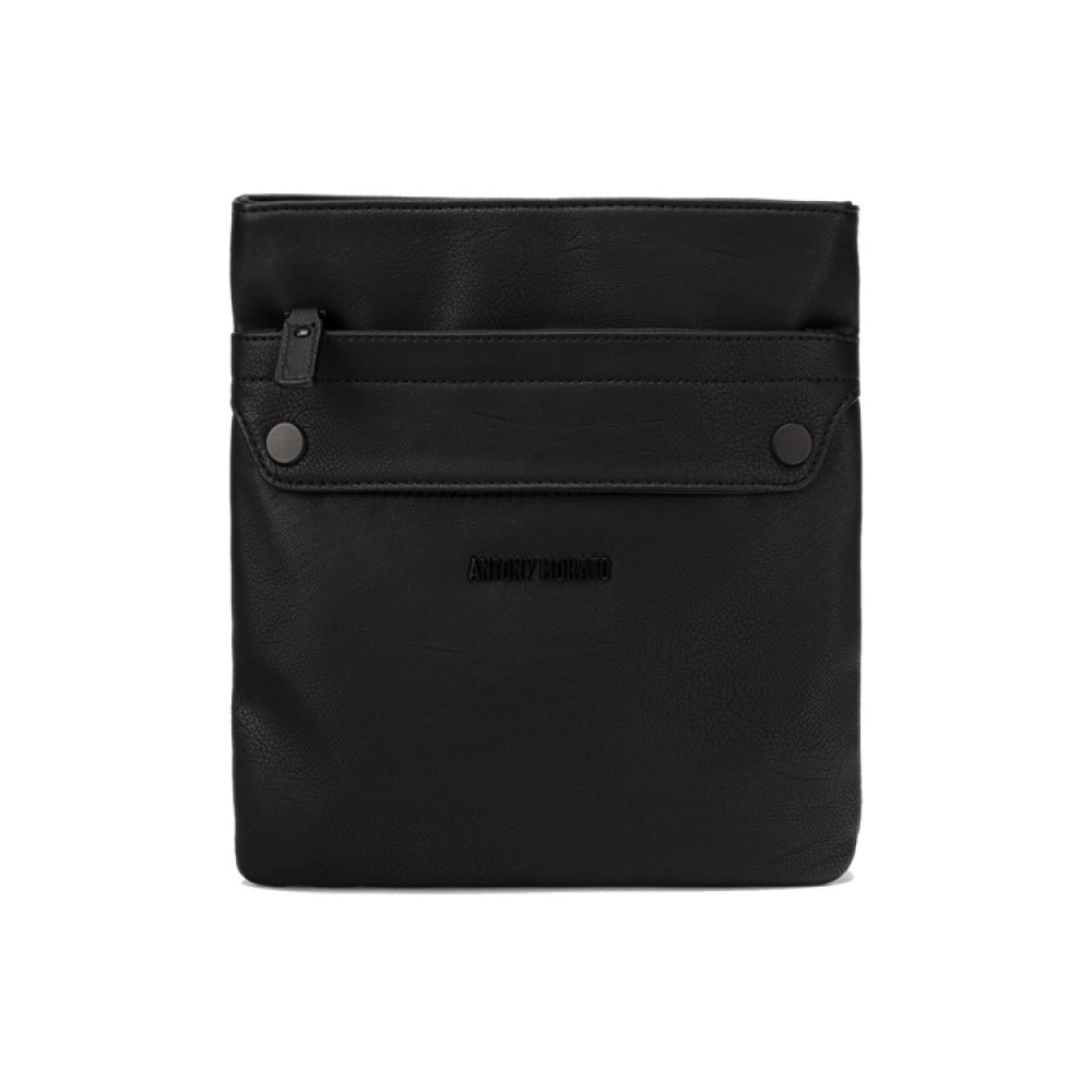 MMAB00253FA210020 MIN OF 3 POUCH IN GRAIN FAUX LEATHER WITH METAL LOGO RIVET BAG ΑΞΕΣΟΥΑΡ ΑΝΔΡΙΚΟ - AB00253FA210020 - ANT MORATO