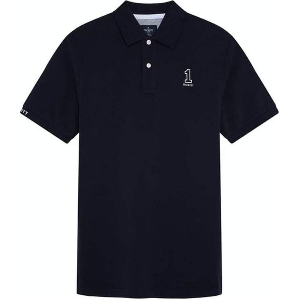 HACKETT LONDON CLASSIC FIT NUMBER POLO ΜΠΛΟΥΖΑ ΑΝΔΡΙΚΟ HM562816 AK NAVY