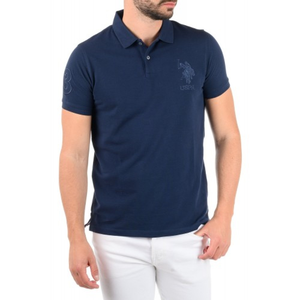 KING OF GAMES POLO ΜΠΛΟΥΖΑ ΑΝΔΡΙΚΟ - 6014041029-DARK BLUE US POLO ASSN
