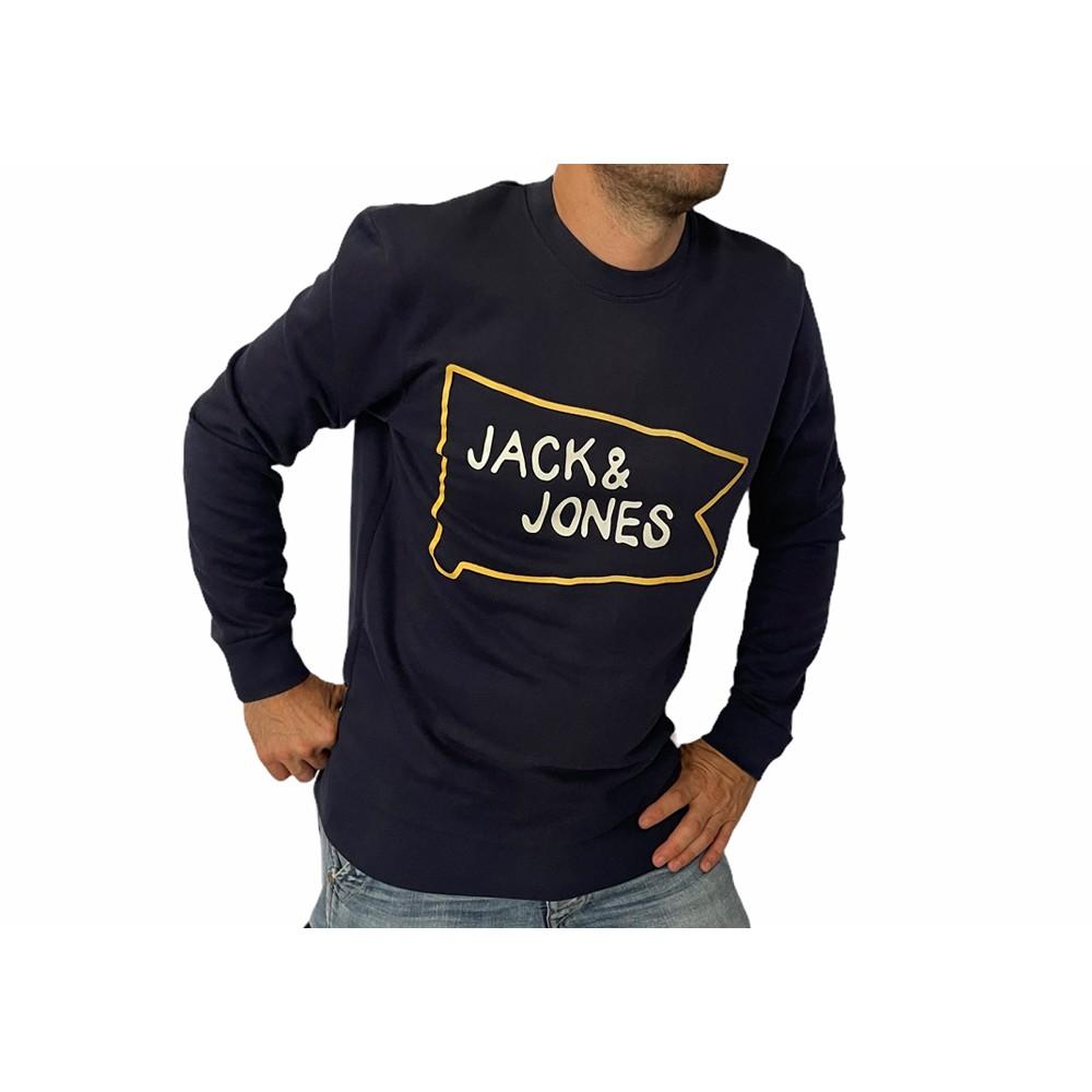 JORMULTI SWEAT MX NAVY 12113187 ΑΝΔΡΙΚΟ ΦΟΥΤΕΡ JACK & JONES