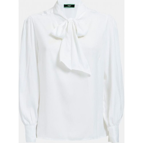 LS HASNA TOP - RECYCLED SUEDED POLY ΜΠΛΟΥΖΑ ΓΥΝΑΙΚΕΙΟ - W0YH65W3TO2 -WHITE GUESS