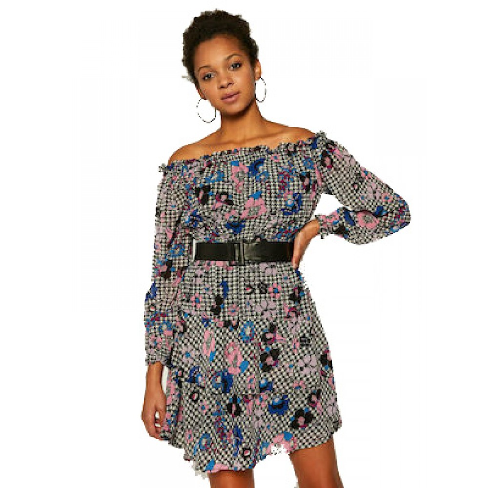 HANNAH DRESS - ECO DRAPY GGT ΦΟΡΕΜΑ ΓΥΝΑΙΚΕΙΟ - W0YK95W8SL2 -PIED AND POULE GUESS
